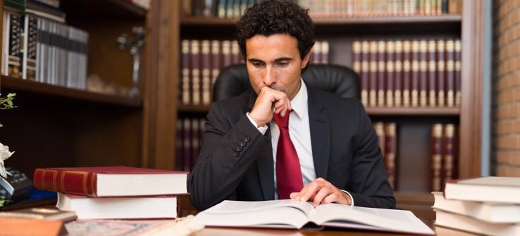 This image shows a personal injury attorney in Fayetteville, AR doing research for a case.